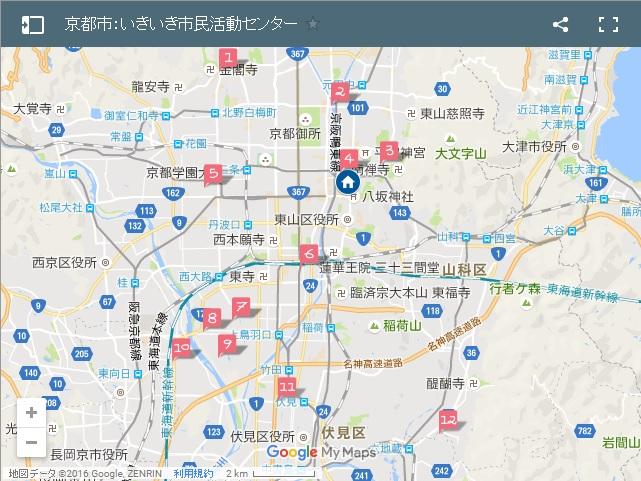 いきいき市民活動センター地図